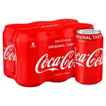 Coca-Cola blik 6-pack